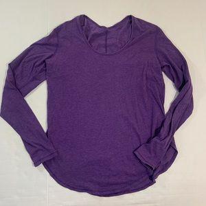 Lululemon Long Sleeve Workout Shirt Top Logo L